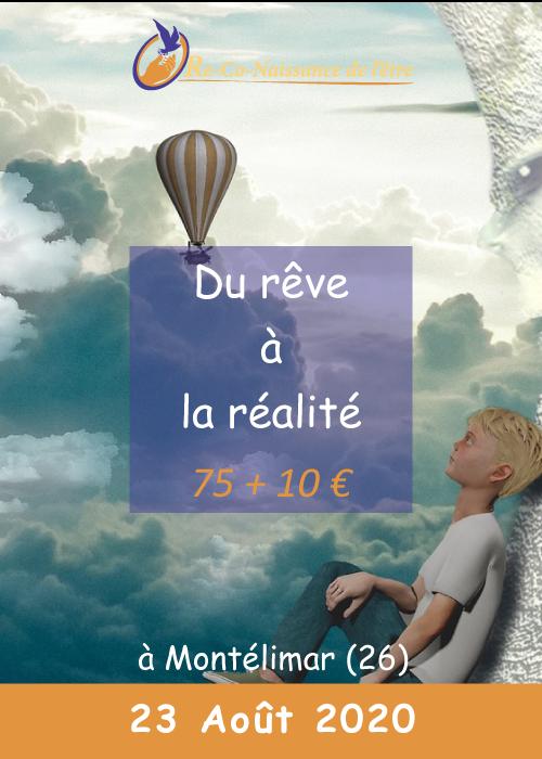 Évènements Re-Co-Naissance de l'Être affiche du rêve à la réalité prix