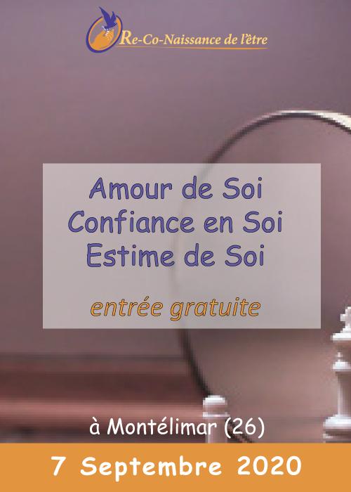 Évènements Re-Co-Naissance de l'Être affiche conférence Amour, Confiance, Estime de soi 7 septembre 2020