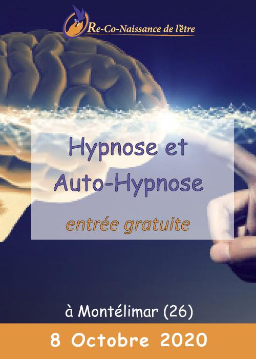 Évènements Re-Co-Naissance de l'Être affiche conférence Hypnose et Auto-Hypnose niveau 2 8 octobre 2020
