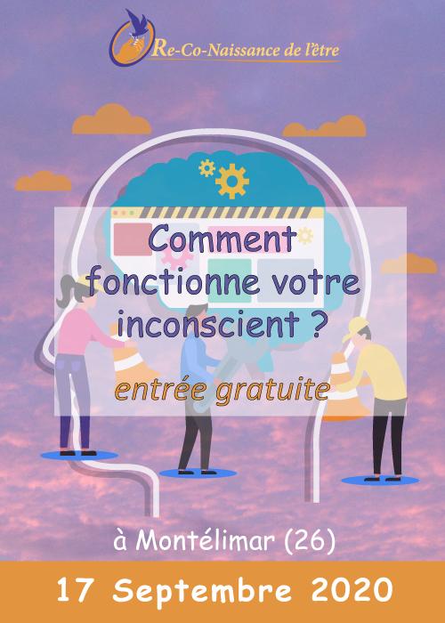 Évènements Re-Co-Naissance de l'Être affiche conférence Comment fonctionne votre inconscient 17 septembre 2020