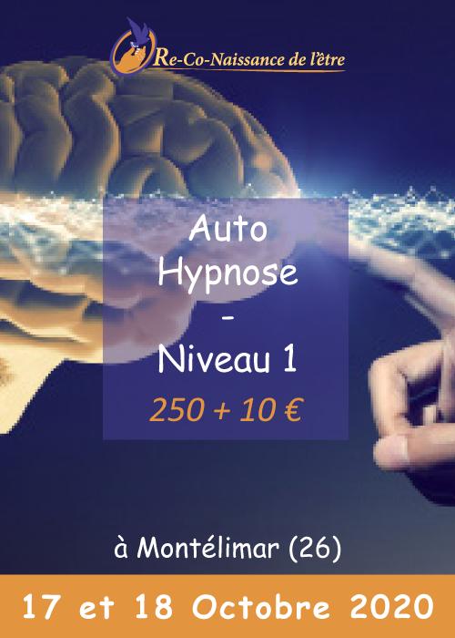 affiche Auto-Hypnose niveau 1 prix date