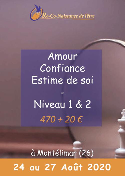 Évènements Re-Co-Naissance de l'Être affiche Amour, Confiance, Estime de soi niveau 1 & 2 prix date